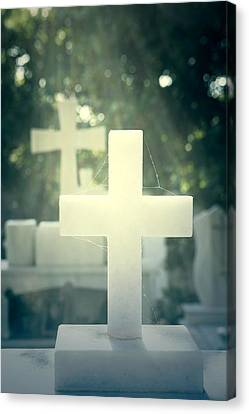 Marble Crosses Canvas Print by Joana Kruse