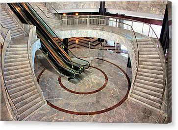 Marble Staircases Canvas Print by Kristin Elmquist