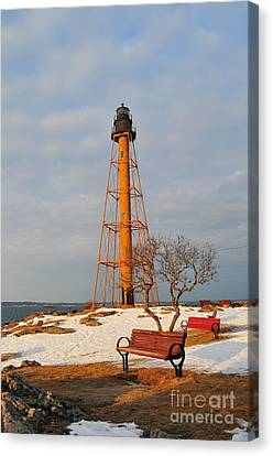 Marblehead Light Canvas Print by Catherine Reusch Daley