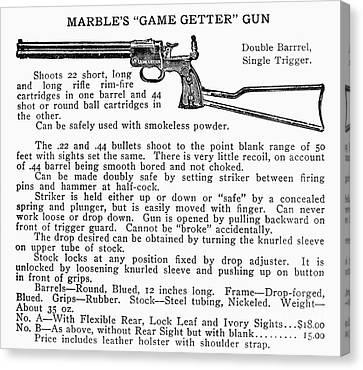 Marbles Game Getter Gun Canvas Print by Granger