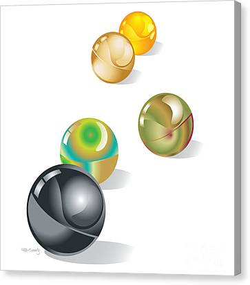 Marble Canvas Print - Marbles by HD Connelly