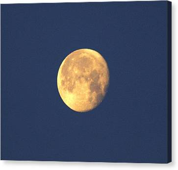 Canvas Print featuring the photograph March Moon by Jeanne Andrews