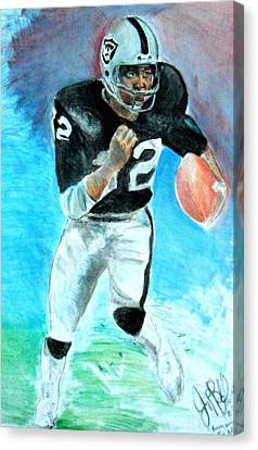 Marcus Allen Raiders  Canvas Print by Jon Baldwin  Art