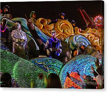 Canvas Print featuring the photograph Mardi Gras Clown by Jeanne  Woods