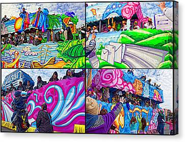 Mardi Gras Fun Canvas Print by Steve Harrington