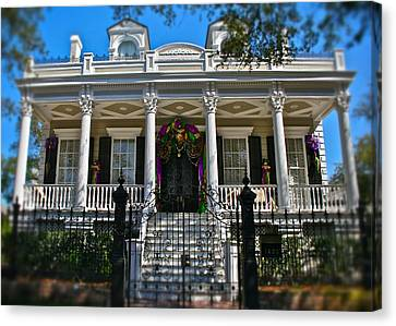 Canvas Print featuring the photograph Mardi Gras House by Jim Albritton