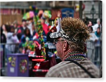 Canvas Print featuring the photograph Mardi Gras Man by Jim Albritton