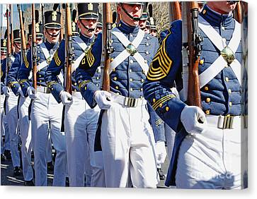 Mardi Gras Marching Soldiers Canvas Print by Kathleen K Parker