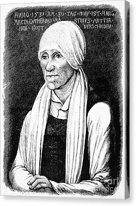 Margarethe Luther Canvas Print by Granger