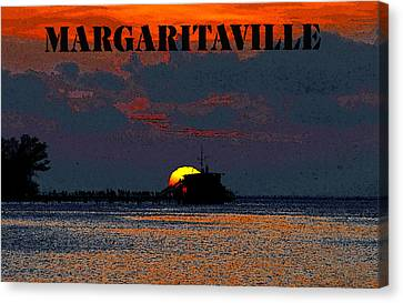 Margaritaville Canvas Print by David Lee Thompson
