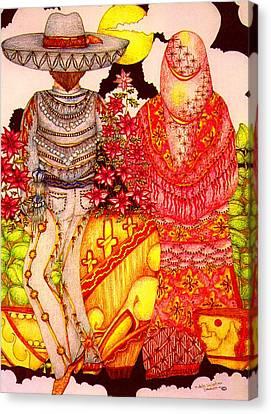 Mariachi Wedding Canvas Print by Dede Shamel Davalos