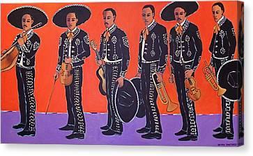 Mariachis Canvas Print