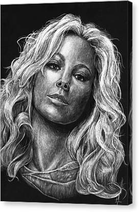 Mariah Carey Canvas Print by Michael Trujillo