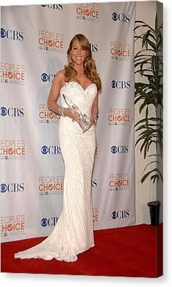 Mariah Carey Wearing A Ysa Makino Gown Canvas Print by Everett
