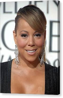 Mariah Carey Wearing Chopard Earrings Canvas Print by Everett