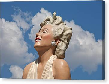 Marilyn In The Clouds Canvas Print by Matthew Bamberg