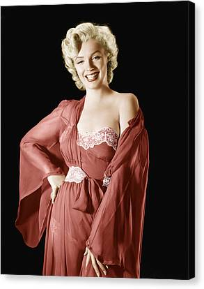 Marilyn Monroe, 1950s Canvas Print by Everett