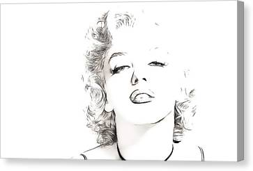 Marilyn Monroe Canvas Print by Tilly Williams