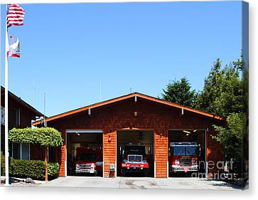 Marin County Fire Department . Point Reyes California . 7d15919 Canvas Print by Wingsdomain Art and Photography
