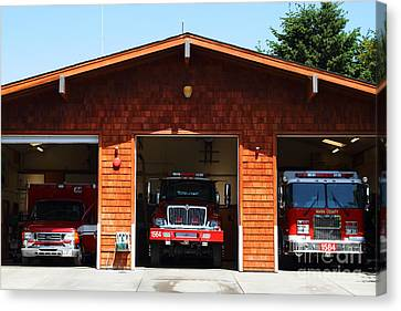 Marin County Fire Department . Point Reyes California . 7d15920 Canvas Print by Wingsdomain Art and Photography