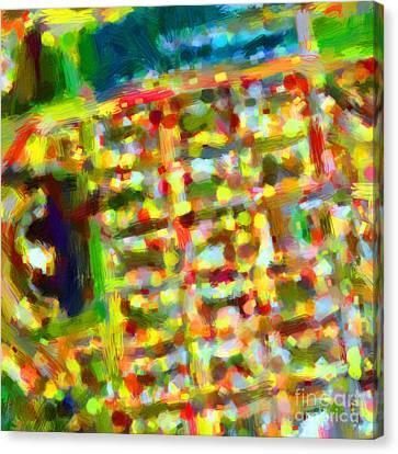Marina District - San Francisco California Usa - Abstract - Painterly Canvas Print by Wingsdomain Art and Photography