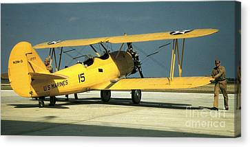 South Carolina State Bird Canvas Print - Marine Corps Biplane by Padre Art