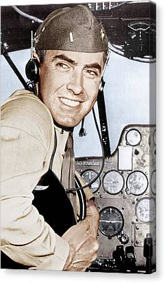 Marine Lieutenant Tyrone Power Canvas Print by Everett