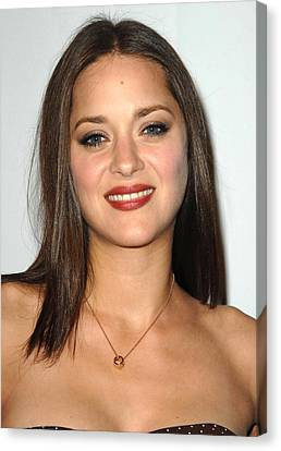 Center Part Canvas Print - Marion Cotillard At Arrivals For 4th by Everett