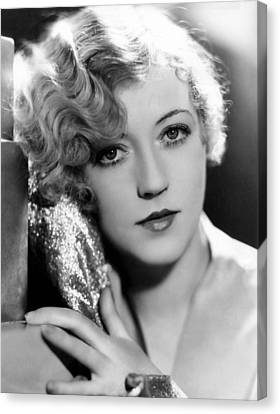 Gold Lame Canvas Print - Marion Davies, 1928 by Everett