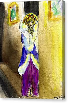 Marion Davies In Fur Canvas Print