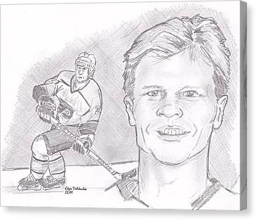 Mark Howe Canvas Print by Chris  DelVecchio