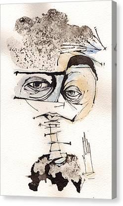 Mark M. Mellon With Glasses Canvas Print by Mark M  Mellon