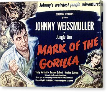 Mark Of The Gorilla, Johnny Canvas Print by Everett
