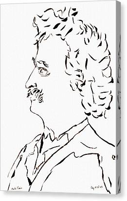 Mark Twain Canvas Print by Day Williams