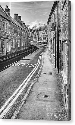 Market Street Abbotsbury Dorset Canvas Print by John Edwards