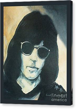 Marky Ramone The Ramones Portrait Canvas Print by Kristi L Randall