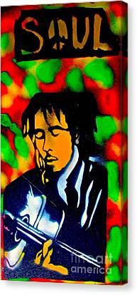 First Amendment Canvas Print - Marley Rasta Guitar by Tony B Conscious