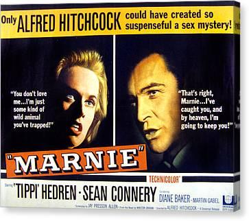 Marnie, Tippi Hedren, Sean Connery, 1964 Canvas Print by Everett