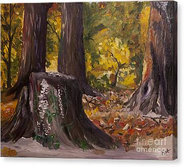 Marr Park Trees Of Fall Canvas Print by Art Hill Studios