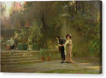 Married For Love Canvas Print by Marcus Stone