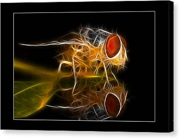 Canvas Print featuring the digital art Mars Fly 02 by Kevin Chippindall