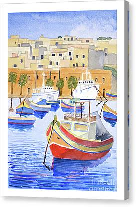 Marsaxlokk Harbour Canvas Print