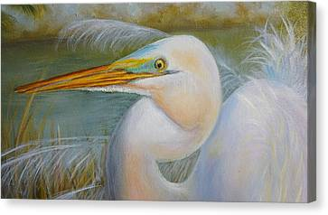 Canvas Print featuring the painting Marsh Master by Marlyn Boyd