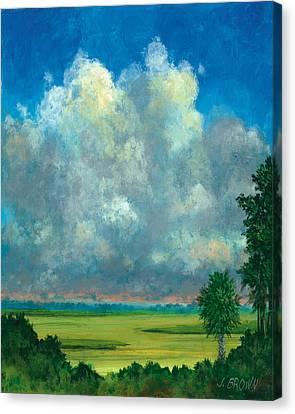 Marsh With Palms Canvas Print