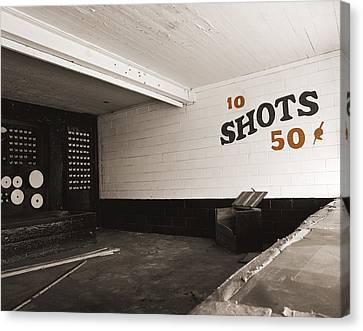 Marshall Hall Shooting Gallery Canvas Print by Jan W Faul