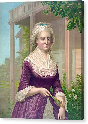 Martha Washington, Colored Lithograph Canvas Print by Everett