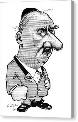 Martin Heidegger, Caricature Canvas Print by Gary Brown
