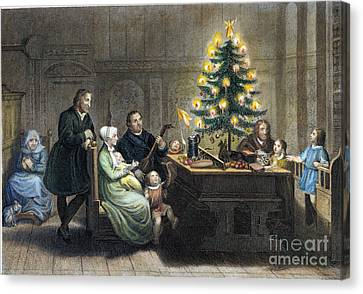 Christmas Eve Canvas Print - Martin Luther (1483-1546) by Granger