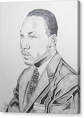 Martin Luther King Jr. Canvas Print by John Keaton
