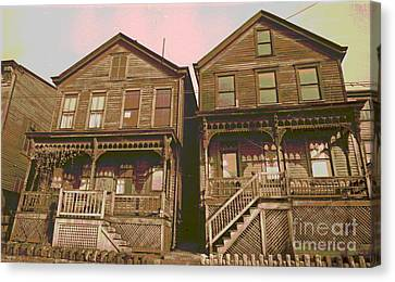 Martin Street Houses Canvas Print by Padre Art